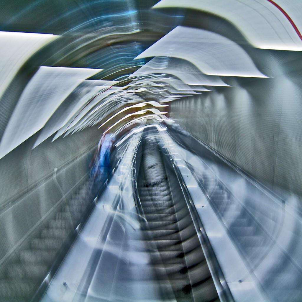 Rolltreppe - Kamera während der Belichtung gedreht